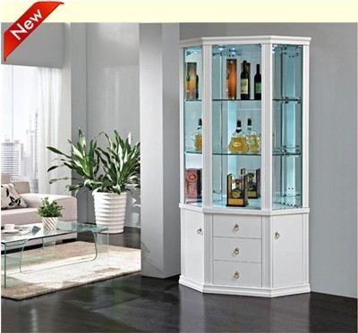New Style Elegant Home Furniture Glass Cabinet