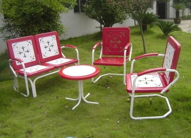 patio metal furniture set