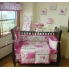 100% cotton red flower baby bedding