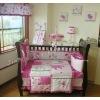 100% cotton red flower baby bedding