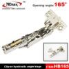 165 degree concealed hinge