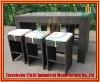 2011 New Design Garden Pe Rattan Bar Tables