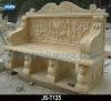 2012 Beige Marble Patio Bench