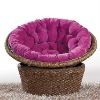 2012 comfortable round wicker rattan baby chair