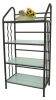 4-Tier Glass Bookcases