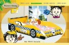 920-01 Yellow Color Kids Police Car Bed for Boy