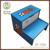 Boy's wooden children Step Stool with Storage