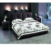 Brown Leather Soft Bed A2063