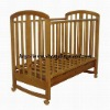 CHILDS PINE WOODEN ROCKING BABY COT