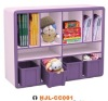 Child toy storage environmental bookshelf cabinet