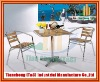 Coffee Shop Cafe Casino Hotel Wine Metal Aluminium Steel Chair Sets