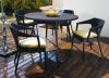 Coffee table set - stackable rattan chairs