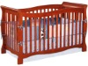 Convertible wooden crib