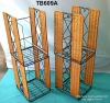 Craft rattan standing rack - Metal frame