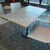 Customized solid surface top dinner table
