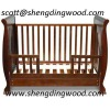Cute & Cuddly 3 in 1 Baby Sleigh Cot and Toddler Bed