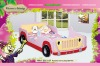 Cute Pink Color Kids Princess Jeep Car Bed for Girl 665P#