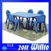 Eco-friendly Plastic Preschool Table and Chairs WT-K9584B