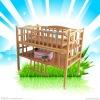 Environmental and friendly solid bamboo baby crib