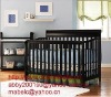 Espresso 4-in-1 Crib with innerspring  Mattress/Baby Cot