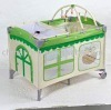 Foldable baby playpen--with toy bar
