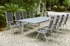 Folding furniture sets with extentive outdoor table