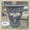 Garden art marble bench