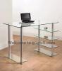 Glass computer table