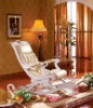 Home Furniture European New Classical Wooden Leather Leisure Sofa Chair