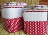 Home storage stool & ottoman/laundry basket