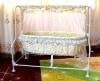 Hot selling buff electric swing baby bed --sound control