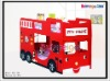 KIDS Funky Fire Engine Bunk Bed in Red Color  902-19R