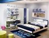 Kids bedroom set in dark blue color (model #: K83)