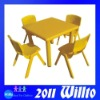 Kindergarten Equipment Plastic Table and Chairs WT-TB0391