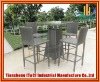 Modern High Pe Rattan Outdoor Bar Furniture