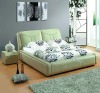 Modern classic leather soft bed A2200