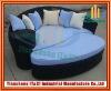 Outdoor Garden Patio Beach PE Wicker Rattan Lounge Lounger Sofa Bed