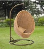 Outdoor rattan hammock,with cushion and iron frame