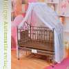 PE rattan mp3&voice control baby beds (infant furniture)