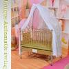 PE rattan mp3&voice control baby cradle/bassinet (nursery furniture)