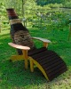 SOLID FIR WOOD ADRIONDACK CHAIR