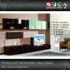 Stylish high glass wall cabinet E-25