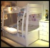 Sweet MDF white kids bunk bed