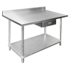 The clean room with stainless steel work table