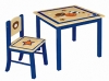 WOOD CHILDREN TABLE AND CHAIR