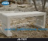 White marble long bench