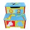 Wooden Children Kids First Step Stool Storage Furniture