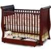 Wooden baby sleigh cot