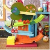 Wooden toy cars gliding animals, cat and mouse game slide slide