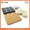 assorted combination of felt furniture pads